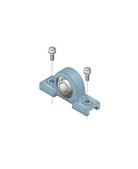 Accessoires SIMU pour rideaux metalliques : Palier à semelle pour embout rond sans clavette D30