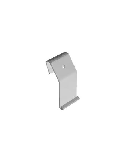 Accessoires Semi-Fermetures pour rideaux metalliques : Agrafe tablier pour axe compensé enroulement extérieur