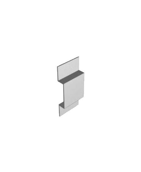Accessoires Semi-Fermetures pour rideaux metalliques : Cavalier (pontet) 40x85 non percé