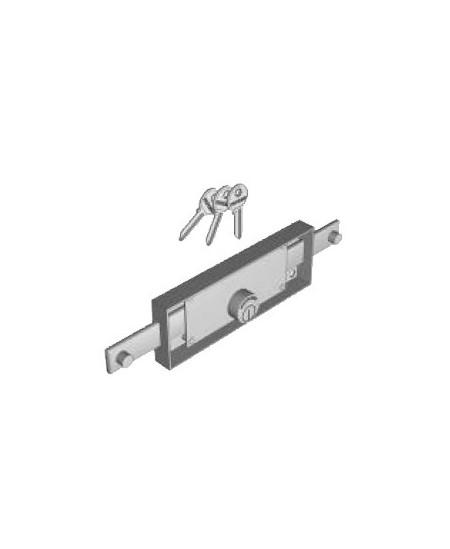 Accessoires Semi-Fermetures pour rideaux metalliques : Serrure 2P Cyl. Rond (D25) Clés Ident. pour rideau métal.