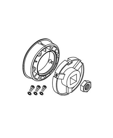 Adaptations moteur et rondelles SIMU pour rideaux metalliques : Adapt. moteur - T8/T9 CAT.A - Tube rond D133 - Ep.4