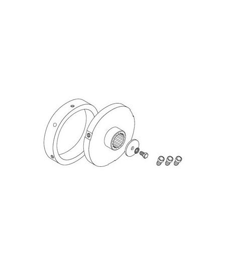 Adaptations moteur et rondelles SIMU pour rideaux metalliques : Adapt. moteur - T8/T9 CAT.B - Tube rond D168 - Ep.4.5