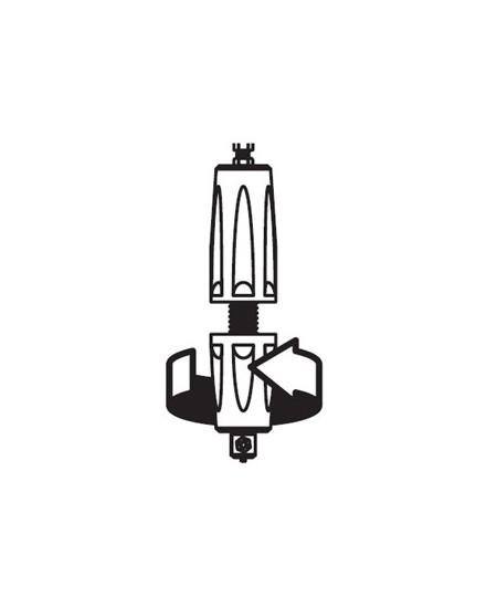 Commandes filaires SIMU pour rideaux metalliques : Poignée de débrayage classique à visser/dévisser