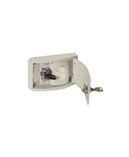 Commandes filaires Elsamec pour rideaux metalliques : Coffret de débrayage avec bouton pour moteur central / Blindor