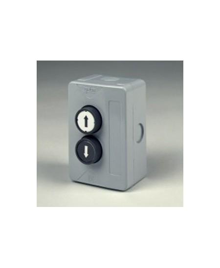 Commandes filaires Geba pour rideaux metalliques : Boite à 2 boutons industrielle