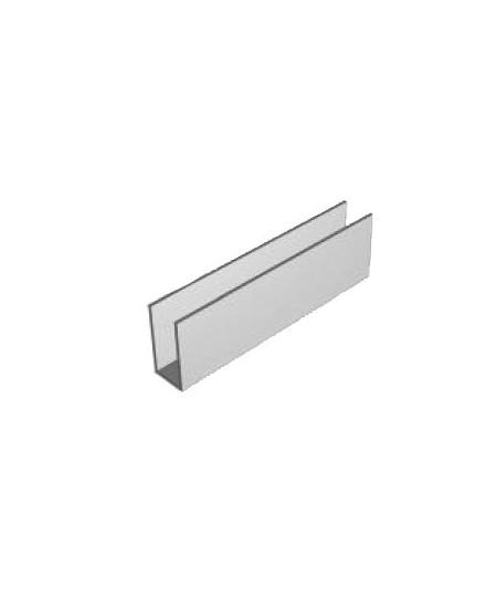 Coulisses Semi-Fermetures pour rideaux metalliques : Coulisse acier galva 80x30x80 ép. 2.5 (Vendu au mètre)
