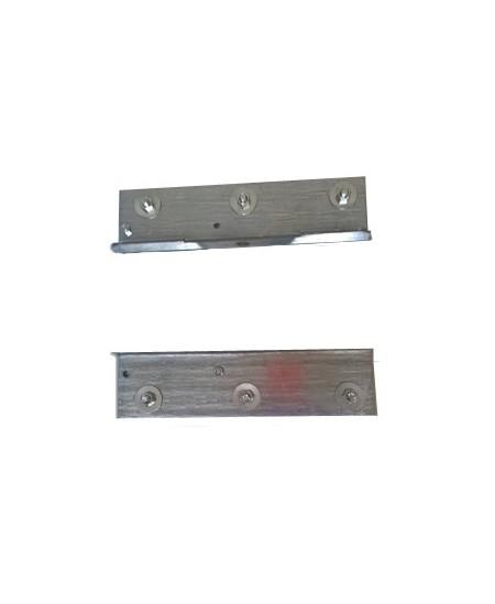 Joues Semi-Fermetures pour rideaux metalliques : Paire d'équerres pour moteur tubulaire SIMU T8/T9 CAT.A