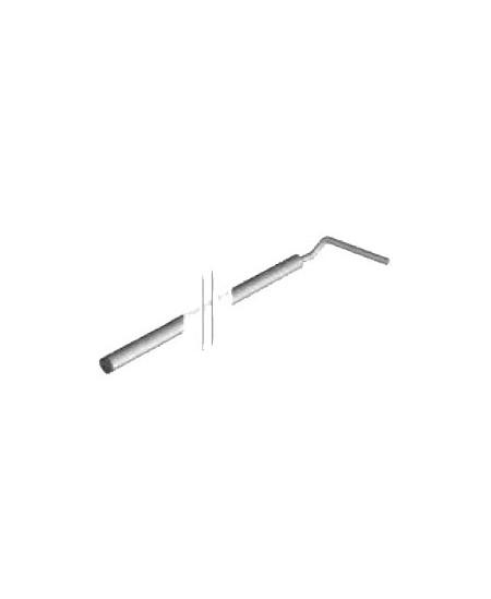 Manivelles et batons de tirage Qualiferm pour rideaux metalliques : Baton de tirage D18 pour arrêt avec oeillet de finale LG1500