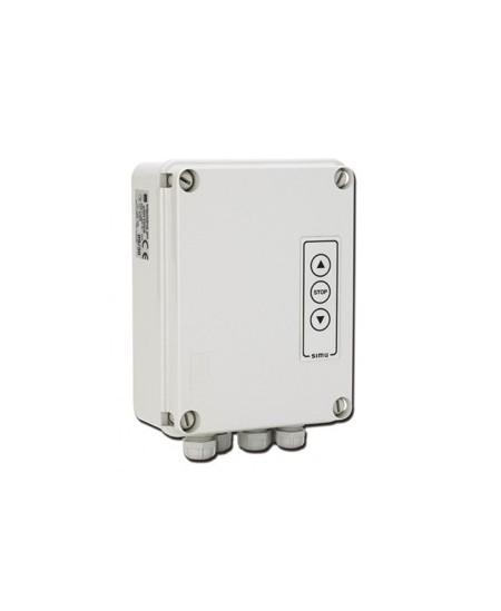 Recepteurs et boitiers de gestion SIMU pour rideaux metalliques : Boîtier SIMUDRIVE 250 avec clavier - SIMU T9 - Triphasé