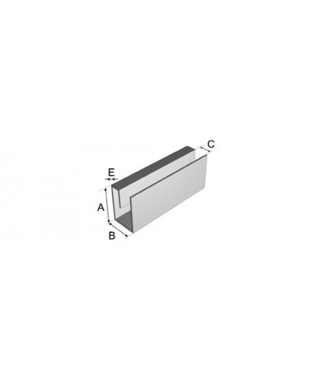COULISSE ANTITEMPETE 80x53x80x3 - 6ML